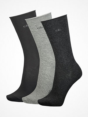 Calvin Klein 3-pack Emma Roll Top Crew Socks Grey