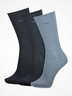 Calvin Klein 3-pack Emma Roll Top Crew Socks Blue