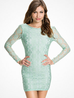 Klänningar - Club L Floral Lace Detail Lowback Bodycon Dress