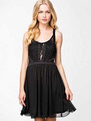 NLY Blush Lace Chiffon Dress