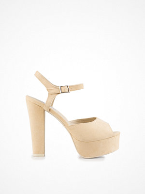 NLY Shoes Plain Platform Sandal Beige
