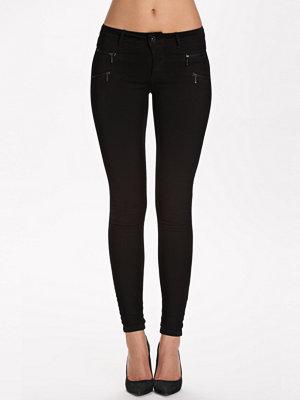Only onlROYAL Reg Skinny Zip Jeans Dnm N Svart