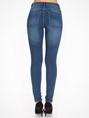 Vero Moda byxor Vmflex-It Slim Jeggings Medium Blue