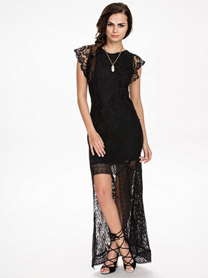 NLY ICONS Holy High-low Dress Svart