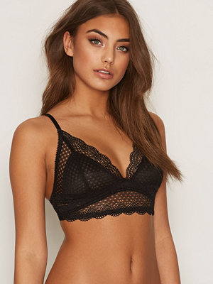 NLY Lingerie Soft Lace Bra Black