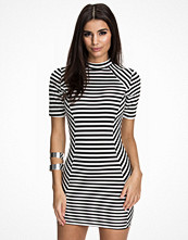 Ax Paris High Neck Striped Dress