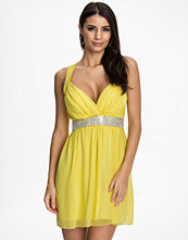Te Amo Cross Front Diamonte Dress