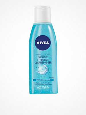 Ansikte - Nivea Wash Off Effective Cleansing Gel 200 ml Transparent