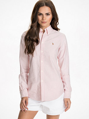Polo Ralph Lauren Harper Long Sleeve Shirt rosa/vit