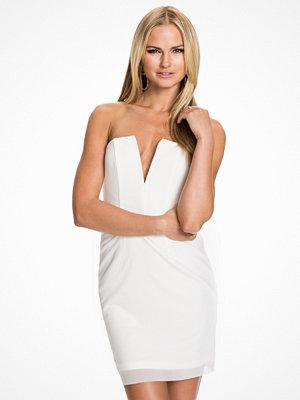 Rebecca Stella For Nelly V-Chest Dress Vit