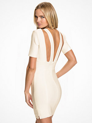 Rebecca Stella For Nelly Bandage Dress Vit