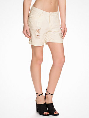 Vero Moda Vmadele Color Destroy Shorts Snow White