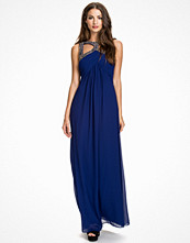 Little Mistress Embellished Wrap Maxi Dress