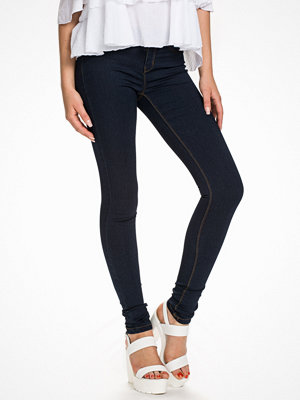 Vero Moda svarta byxor Vmflex-It Slim Jeggings Dark Blue Denim