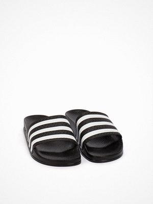Tofflor - Adidas Originals Adilette W Svart/Vit