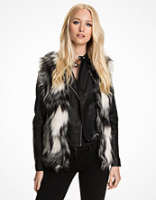 Miss Selfridge Patchwork Faux Fur Gilet