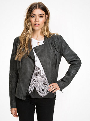 Only onlAVA Faux Leather Biker Otw Noos Svart