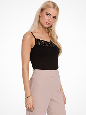 Vila Viofficiel Lace Strap Top-Noos Black