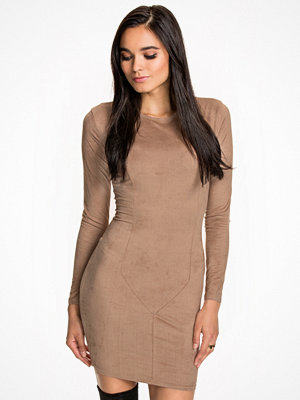 NLY Trend Suede Dress Beige