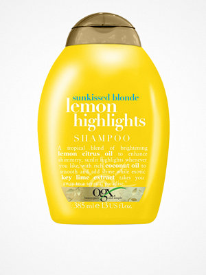 Hårprodukter - OGX Lemon Highlights Shampoo 385 ml Transparent