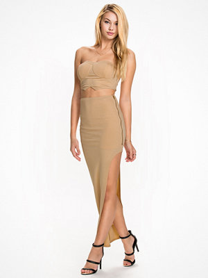 NLY One Slit Zip Set Champagne