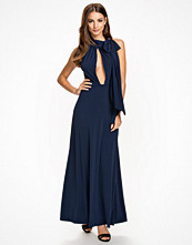 John Zack Halterneck Drape Dress