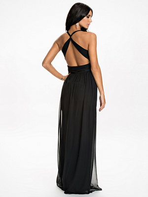 NLY Eve Empire Cross Back Dress Svart
