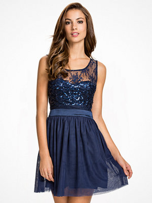 NLY One Sparkle Flare Dress Navy