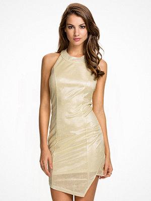 NLY One Halterneck Slit Dress Guld