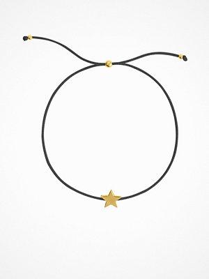 SOPHIE By SOPHIE armband Star Cord Bracelet Guld/Svart