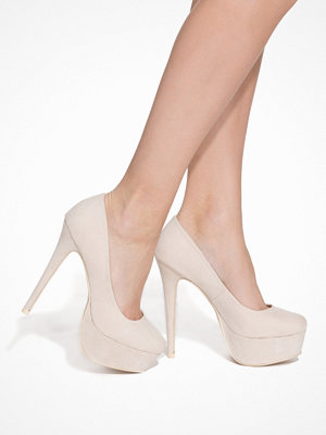 NLY Shoes Platform Pump Beige