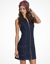 Miss Selfridge Zip Through V Neck Denim Dress