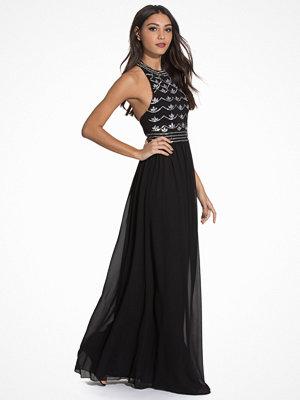 NLY Eve Decor Open Back Dress Svart