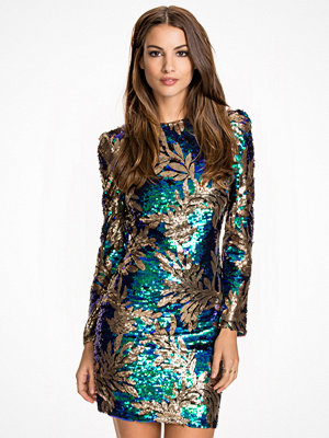 Club L Atlantis Palm Sequin Bodycon Dress