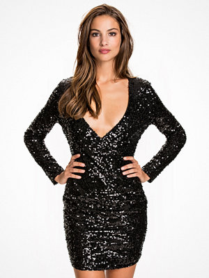 NLY One Wrap Sequin Dress Svart