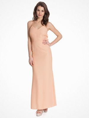 Elise Ryan Maxi Drape Back Sequin Lace Insert Dress