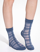 Strumpor - Pretty Polly Grid Stripe Ankle High
