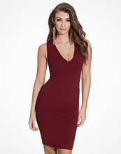New Look Crochet Back V-Front Bodycon Dress