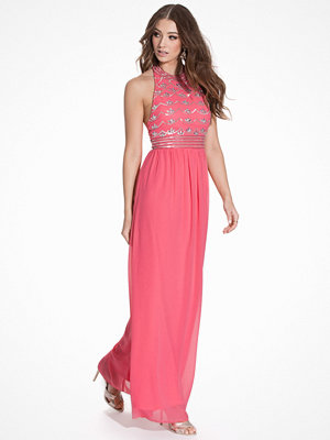 NLY Eve Decor Open Back Dress Rosa