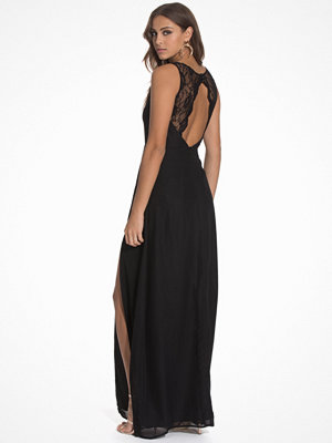 NLY Eve Lace Back Gown Svart