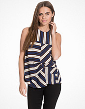 Topshop Striped Sleeveless Hitch Top