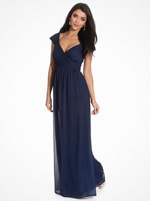 NLY Eve Cup Sleeve Maxi Dress Mörk Blå