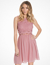 Elise Ryan Short Lace Over Top Chiffon Dress