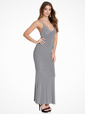 Club L Cami Slinky Rouched Back Dress Grey