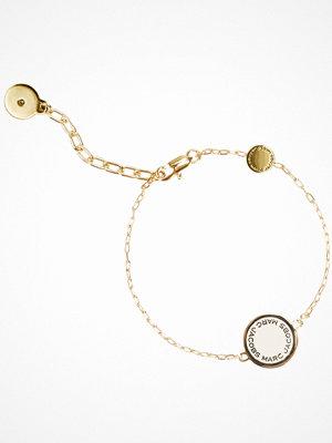 Marc Jacobs armband Enamel Logo Disc Bracelet Cream