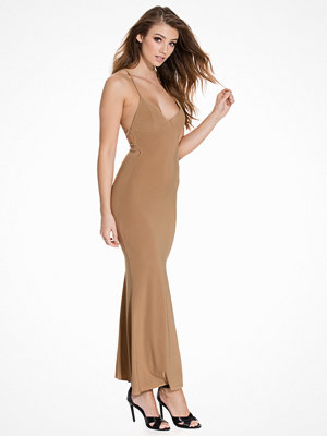 Club L Cami Slinky Rouched Back Dress Camel