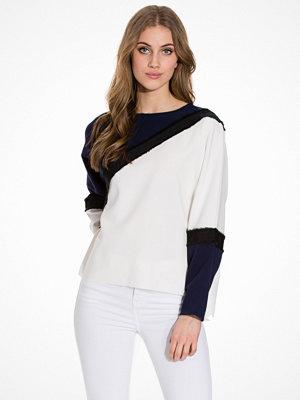 Topshop Colour Block Sweatshirt Navy