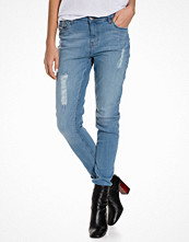 Sally & Circle Jane Bf Md Stressed Jeans