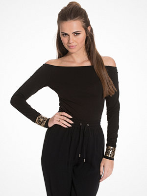 NLY Trend Off Duty Shoulder Top Svart