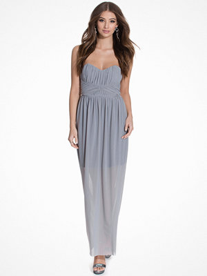 Miss Selfridge Bandeau Maxi Dress Grey